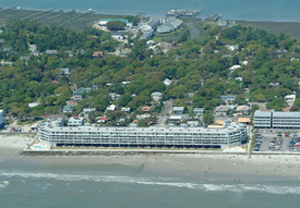 Arial photo of Charleston Oceanfront Villas in Folly Beach